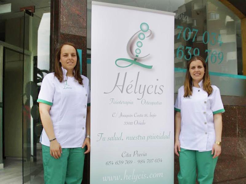 Leticia y Cristina equipo de Hélicys