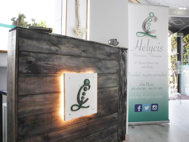 Recepción de Hélycis Centro de Fisioterapia